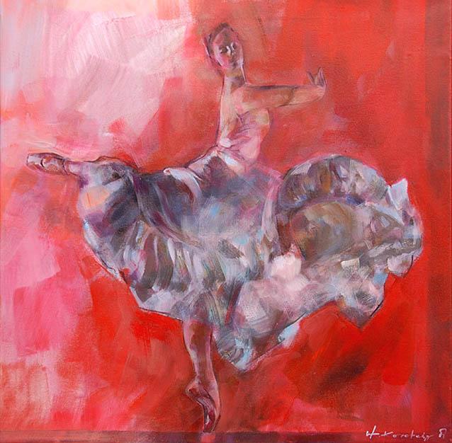 Ballett 164a, Mischtechnik, Blendrahmen